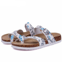 Beach Cork Slipper Flip Flops Sandals