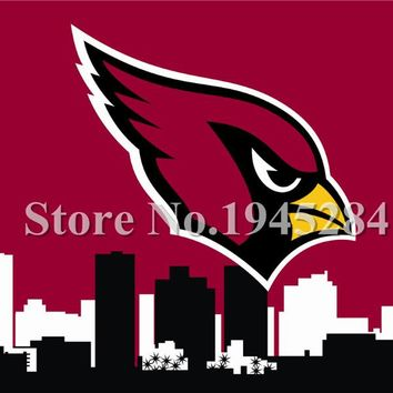 NFL Arizona Cardinals City Skyline Flag Banner New 3x5ft 90x150cm 100D Polyester 7127, free shipping