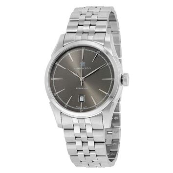 Hamilton Spirit Of Liberty Grey Dial Stainless Steel Mens Watch H42415091