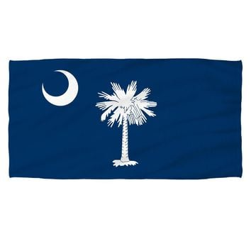 South Carolina Flag Beach Towel