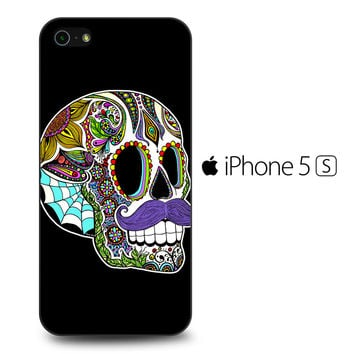 Mustache Sugar Skull iPhone 5S Case
