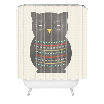 Allyson Johnson Native Owl 2 Shower Curtain