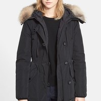 Women's Moncler 'Arriette' Down Insulated Parka with Genuine Fox Fur Ruff,