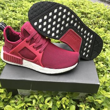 Adidas Originals NMD Runne Red wine Basketball Shoes 36-40