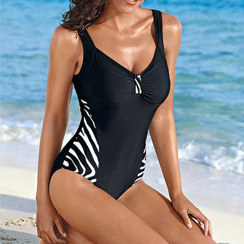 Stripe Vintage One Piece Swimsuit