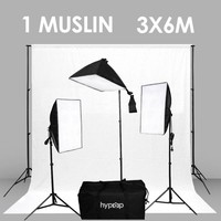 Rectangle Softbox Boom Arm Kit (Includes: Backdrop Stand And ONE Backdrop Muslin)