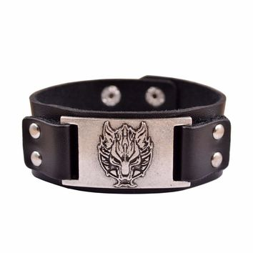 HUIDANG 1pcs dropshipping hot sell viking wolf men bracelet celt wolf head bangles Fashion Jewelry Supernatural Amulet