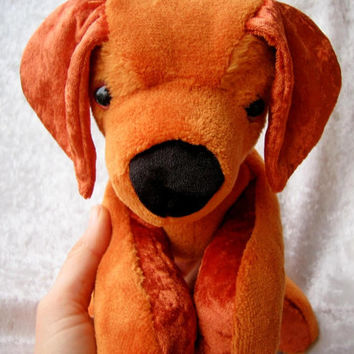 Stuffed animal RHODESIAN RIDGEBACK plush stuffed dog rhodesian ridgeback stuffed dog irish setter plush stuffed animal dog - made to ORDER