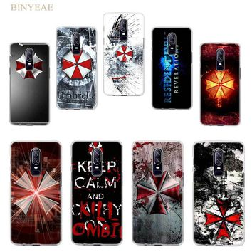 BiNFUL Resident Evil Umbrella Corporation Hard Clear Case Cover Shell for Oneplus 5t Oneplus 6