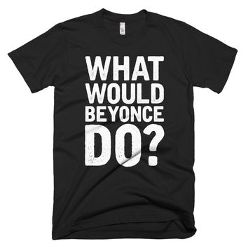 What Would Beyonce Do? White Print - Short sleeve men's t-shirt