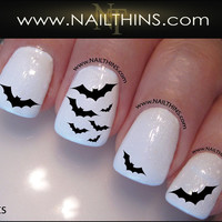 Bat Nail Decal Halloween Vampire Bats Nail Design NAILTHINS