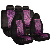 FH Group Purple Leopard Print Full Set Car Seat Covers | Overstock.com Shopping - The Best Deals on Car Seat Covers