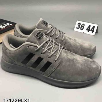 Adidas pig leather comfort shock absorbing sneakers F-CSXY