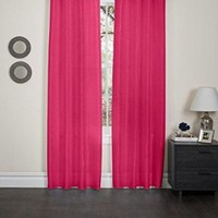 "2 Piece Grommet Window Curtain Panels 57"" X 90"" Total 114 "" X 90"" (Hot Pink)"