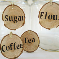 Rustic Kitchen Labels, Rustic Canister Labels, Canister Labels, Wood Labels,