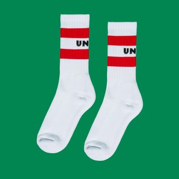 Striped Logo Socks