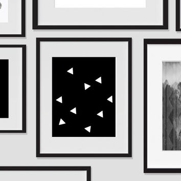 Monochrome Triangle Minimalist Art, Dorm Room Art, For The Home, Nursery Art