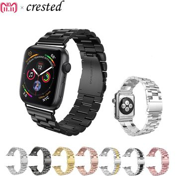 Luxury Stainless Steel Strap for apple watch band 42mm/38mm/44mm/40 link bracelet Watchband for iWatch 4/3/2/1 metal wrist belt