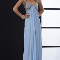 Jasz Beaded Strapless Gown