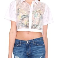 Simplicity Crop Shirt - White