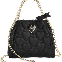 Betsey Johnson Mini Quilted Chain Handbag