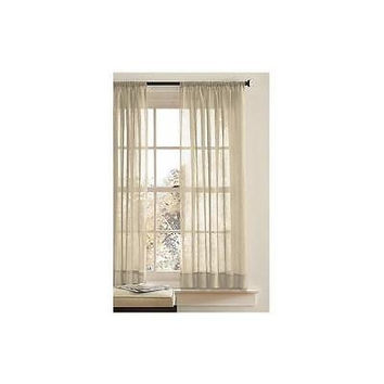 """Bh&G Canopy Crushed Voile Drapery Panel 51"""" X 84"""" Stone"""