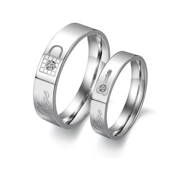 Couple Lock and Key Design Rings his and hers a life time promise ring one piece price = 1930012164