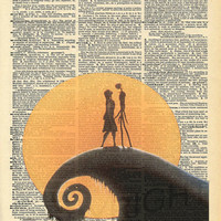 Nightmare Before Christmas Dictionary Art Print