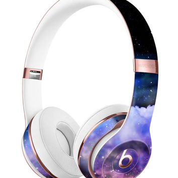Purple Blue and Pink Cloud Galaxy Full-Body Skin Kit for the Beats by Dre Solo 3 Wireless Headphones