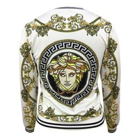 VERSACE Women Man Fashion Print Sport Shirt Top Coat Jacket