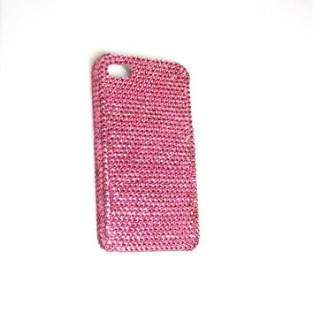 Hot Pink Genuine Swarovski Rhinestone Crystal Case for iPhone 4/4s, and iPhone 5 - Lifetime Warranty