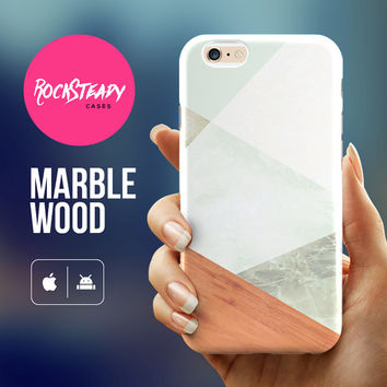 Marble wood iPhone case  - wood iphone 6 case, iPhone 6 Plus case, marble iPhone 5s Case, iPhone 5C case, marble case, samsung s5 case