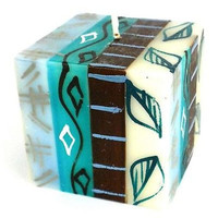 Hand-Painted Cube Candle - Maji Design