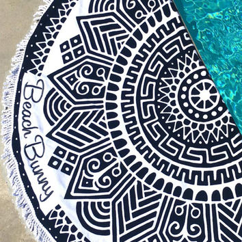 Beach Bunny Swimwear Round Circle Towel