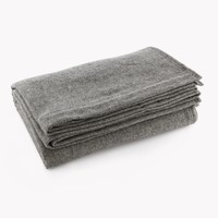 Herringbone Wool Blanket - Heather Gray