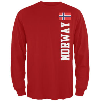World Cup Norway Red Adult Long Sleeve T-Shirt