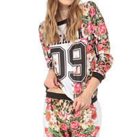 Dreamer Floral Print Sweater