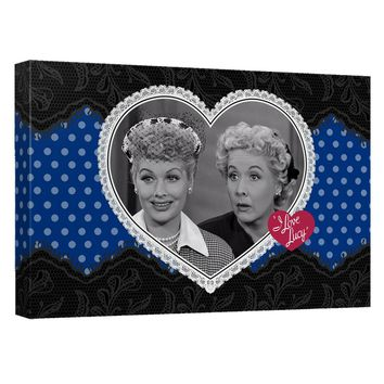 I Love Lucy - Lace Of Friendship Canvas Wall Art With Back Board