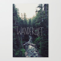 Wanderlust: Rainier Creek Stretched Canvas by Leah Flores Designs