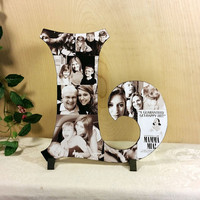 Custom Photo Collage, Letter Photo Collage, Wood Letters, Personal Collage, Photo Collage, Personal Photo Collage, Customized Photo Letters