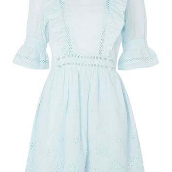 Broderie Ruffle Dress - Dresses - Clothing