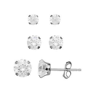 Emotions Sterling Silver Stud Earring Set - Made with Swarovski e7a3df0292d8