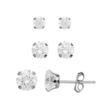 0ac02360a Emotions Sterling Silver Stud Earring Set - Made with Swarovski