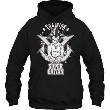 Super Saiyan - Vegeta training - Unisex Hoodie T Shirt - SSID2016