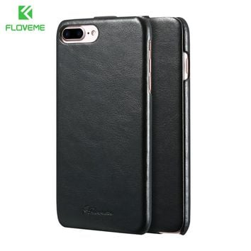 FLOVEME Brand Case For Apple iPhone 5 5S SE 4 4S Phone Cases Vertical Flip Case Cover For iPhone 7 6 6S Plus Leather Accessories