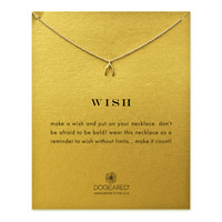 Wish Wishbone Necklace, Gold Dipped | Dogeared