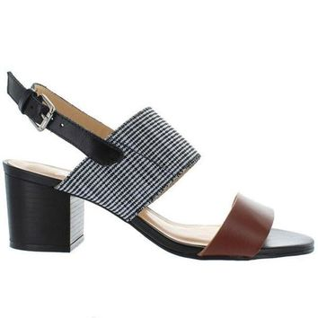 VONES2C Chelsea Crew Elle - Tan/Black Leather Sling-Back Sandal
