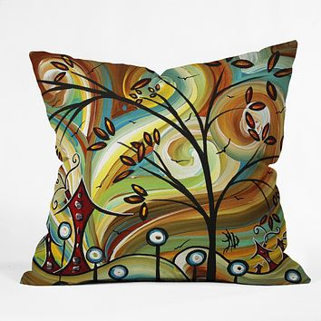 Madart Inc. Fall Colors Throw Pillow