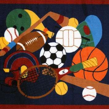 Fun Rugs Fun Time Collection Sports America Area Rug
