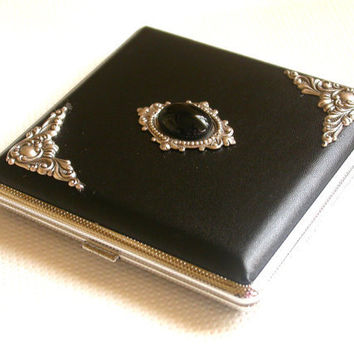 Black Leatherette Cigarette Case by LeBoudoirNoir on Etsy
